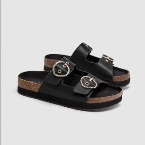 Zara platform sandal with buckle
